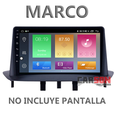 Pantalla Android Carson - Renault Megane III - 1/16Gb