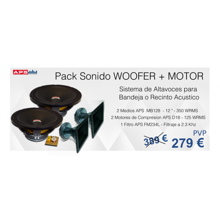 Pack Woofers + Motores