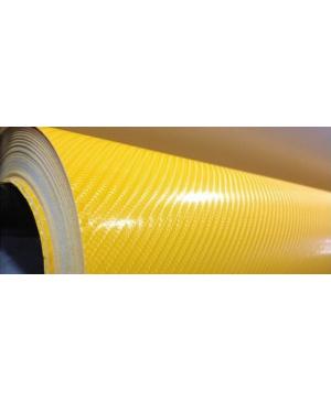 CAR-INTEGRATION Vinilo Carbono Amarillo 4D 100 x 152 cm