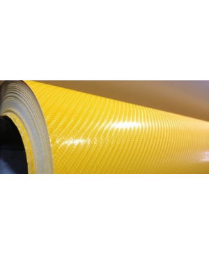 CAR-INTEGRATION Vinilo Carbono Amarillo 4D 500 x 152 cm