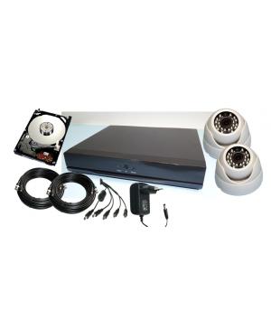 Kit Completo de DVR + 2 Camaras