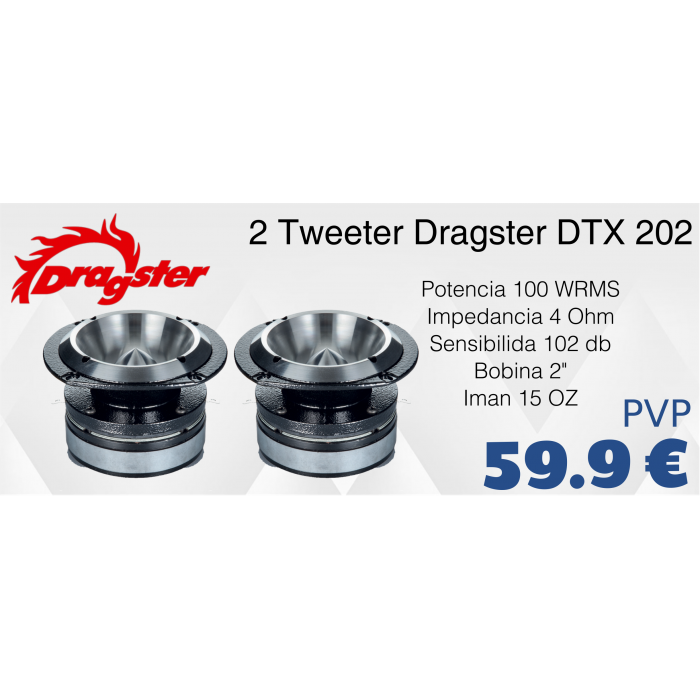 Dragster DTX202 - 2 Unidades