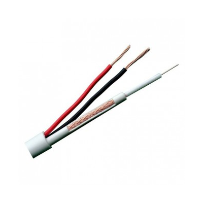 Cable RG59 +2x0,75mm MicroRG59 Funda Blanca