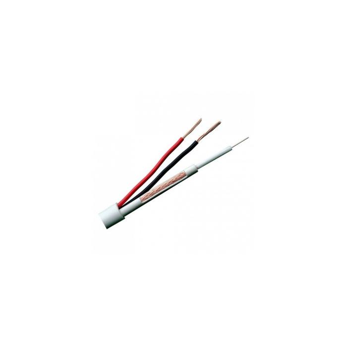 Cable RG59 +2x0,75mm MicroRG59 Funda Blanca