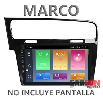"""Marco Adaptador 10"""" Carson para VW Golf VII - Negro"""