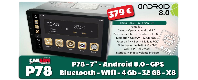 Radio Android CARSON P78