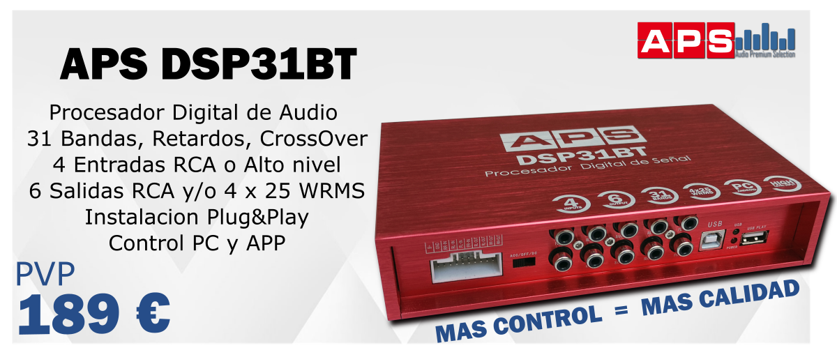 Procesador de Sonido APS DSP31BT